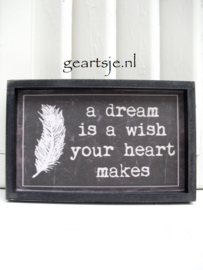 TEKSTBORD - A DREAM ...-