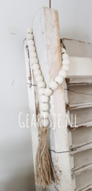 houten KRALEN KETTING - deco -