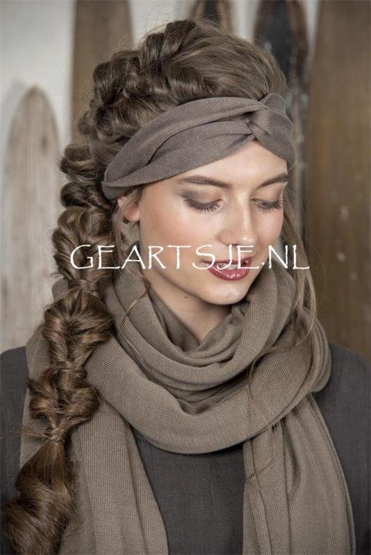 HAARBAND - Donker LINNEN - Jeanne d 'Arc Living