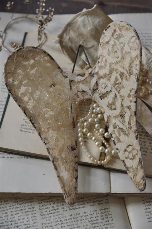 ANGEL WINGS - LACE -15 cm - Jeanne d 'Arc Living -
