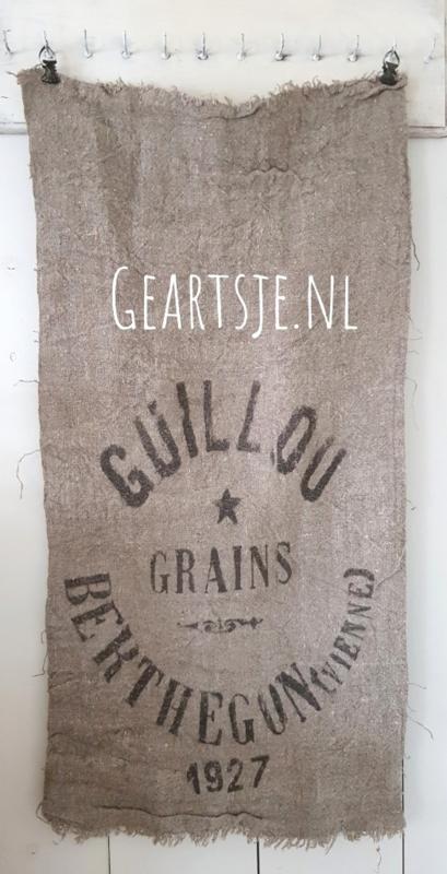 shabby PLAID - GRAINS 1927 - grof linnen - 45 x 100 cm -