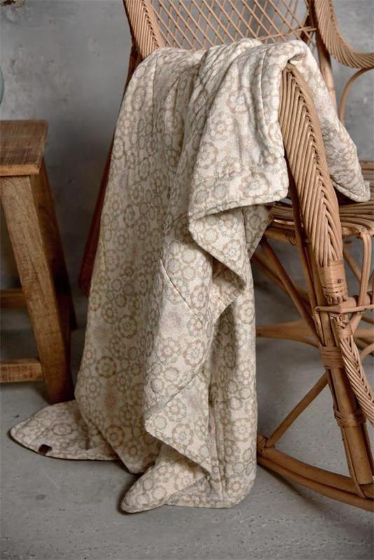 PLAID/ QUILT - vintage/retro style - 160x130 cm - Jeanne d 'Arc Living