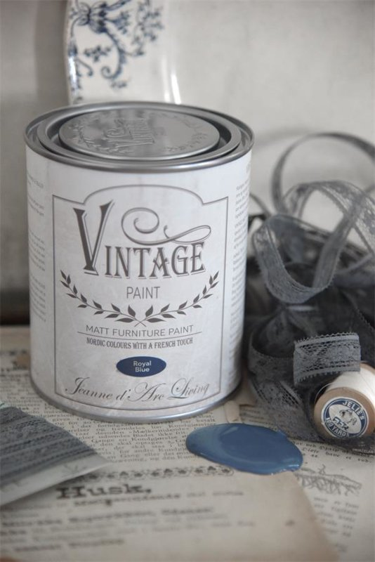 ROYAL BLUE (700 ml) VINTAGE PAINT - JEANNE D 'ARC LIVING -