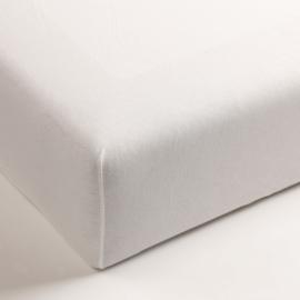 Jersey hoeslaken met elastan wit 120x200 (hoekhoogte 40cm)