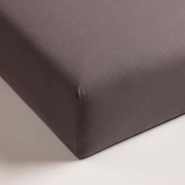 Jersey hoeslaken met elastan donker grijs (hoekhoogte 40cm)