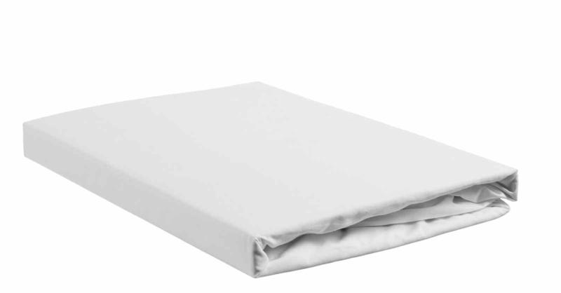 Cley perkal hoeslaken wit (hoekhoogte 30cm)