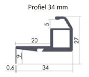Profiel 34mm (Beste keus, alle kozijntypen)