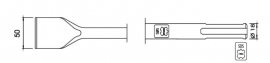 SDS-max spadebeitel plat 50mm Lengte 360mm