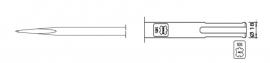 SDS-max punt-beitel Lengte 280mm