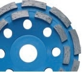 Komschijf BLUE LINE (DUBBEL RIJIG) Toepassing: Beton, bouwmaterialen
