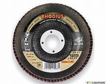 Rhodius LSZ F1 Lamellenschijf Staal/Inox 125 x 22,23 mm K80
