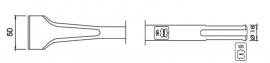 SDS-max tegelbeitel gebogen plat 50mm Lengte 300mm