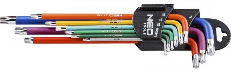 Torx sleutelset Gekleurd T10-T50