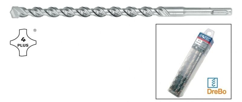Hamerboren SDS 4-plus in box van 10 stuks 8x160/100