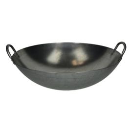 Wok (wadjan) met 2 Handvaten (45 cm) staal