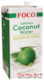 Foco Coconut Water 100% Puur 1 liter
