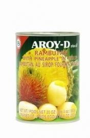 Aroy-d Rambutan met ananas 565 gr