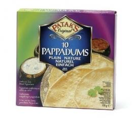 Pappadums naturel 100 gr
