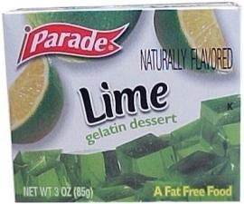 Parade Lime gelatin dessert