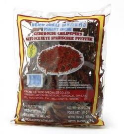 chillipepers gedroogd met steel  100 gr