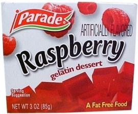 Parade Raspberry gelatin dessert