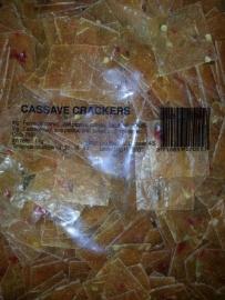 cassava crackers 3x3cm ongebakken