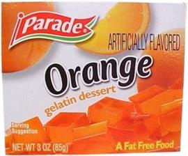 Parade Orange gelatin dessert