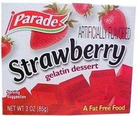 Parade Strawberry gelatin dessert