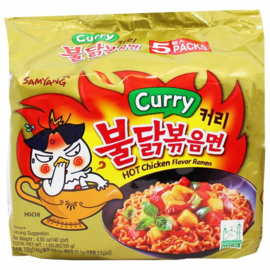SamYang hotchicken Curry  ramen noodles 5 stuks