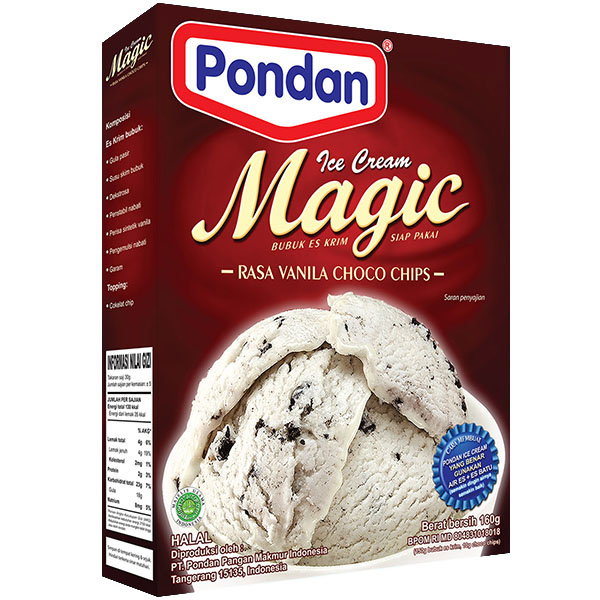 Pondan Icecream vanilla