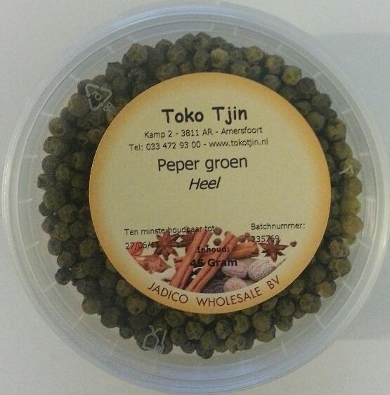 Peper groen korrels 30 gr