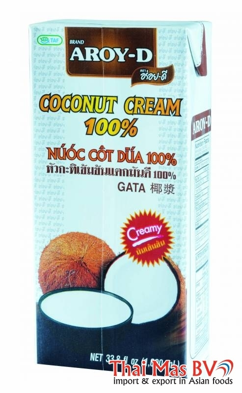 aroy-d coconut cream 1 liter