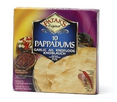 Pappadums Garlic 100 gr