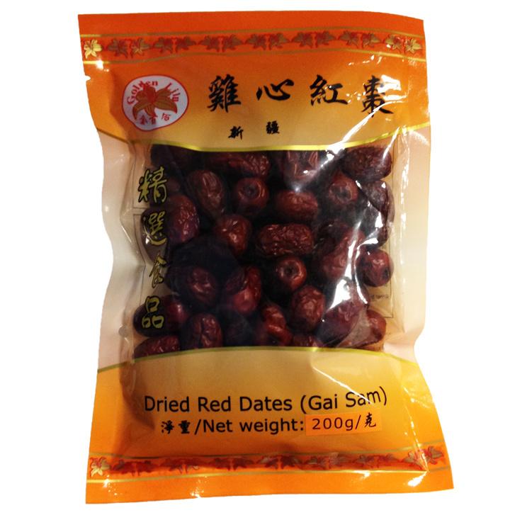 GL Dried Xinjiang Kai Sum Red Dates(rode dadels)