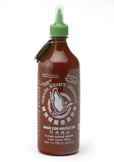 SriFlying Goose Brand Sriracha hot chilli saus 730 ml