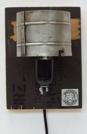 Alu Wandlamp / Army Green RAW paneel (alléén LED-lampen gebruiken)
