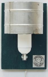 Alu Wandlampje / Petrol RAW paneel