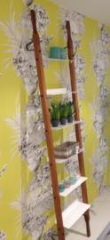 WandRack Single Rood-Bruin Canvas / Witte planken (afgebeeld zonder canvas)