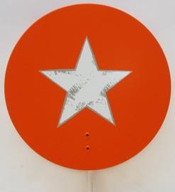 Wandlampje Round & Round met ster Orange