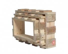 WandModules - Set van 3 stuks - Blank hout