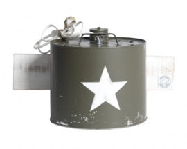 CanWandlamp U.S. Ster / Wit RAW paneel