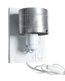 Alu WandLamp / Wit RAW paneel (alléén LED-lampen gebruiken)