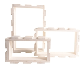 Wand Modules Wit - Set van 3 stuks