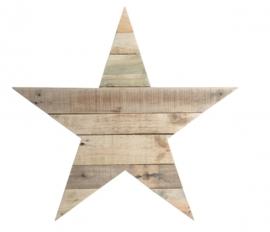 Houten -ster- van sloophout 40cm