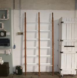 WandRack Double Bruin Canvas / Witte planken