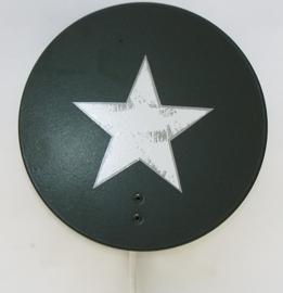 Wandlampje Round & Round met ster Army Green