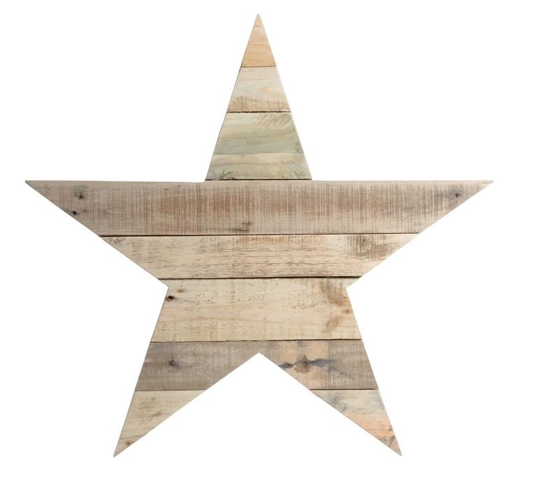 Houten -ster- van sloophout 20cm