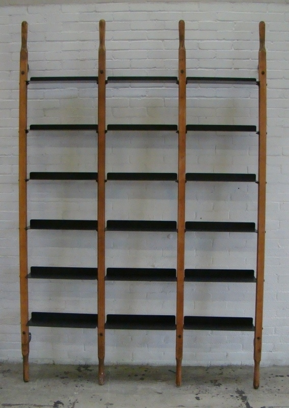 WandRack Triple Bruin Canvas / Zwarte planken