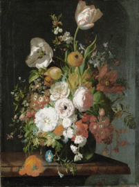 Dutch Painted Memories 8036 Flowers in a Glass Vase |||