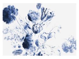 Kek Royal Blue Flowers WP-224 afmeting 389.6x280
